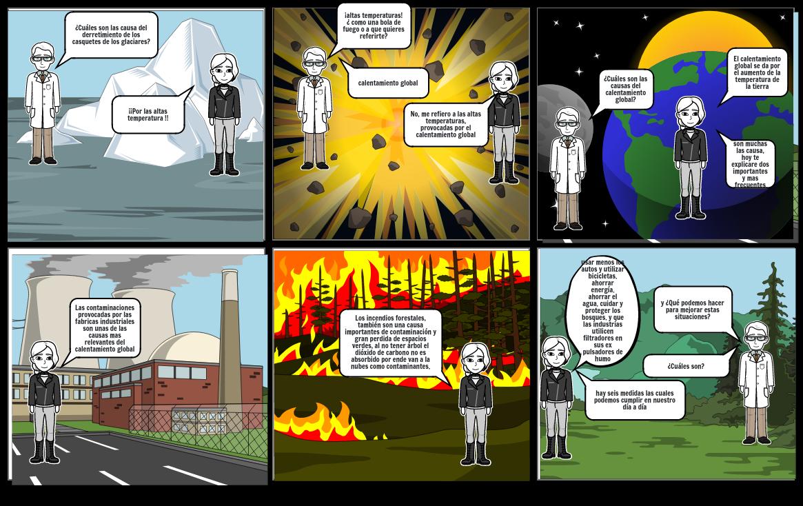 historieta sobre calentamieto lobal