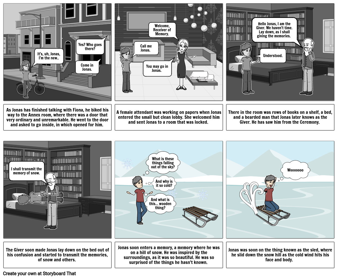 The Giver (First Memory) Comic Strip