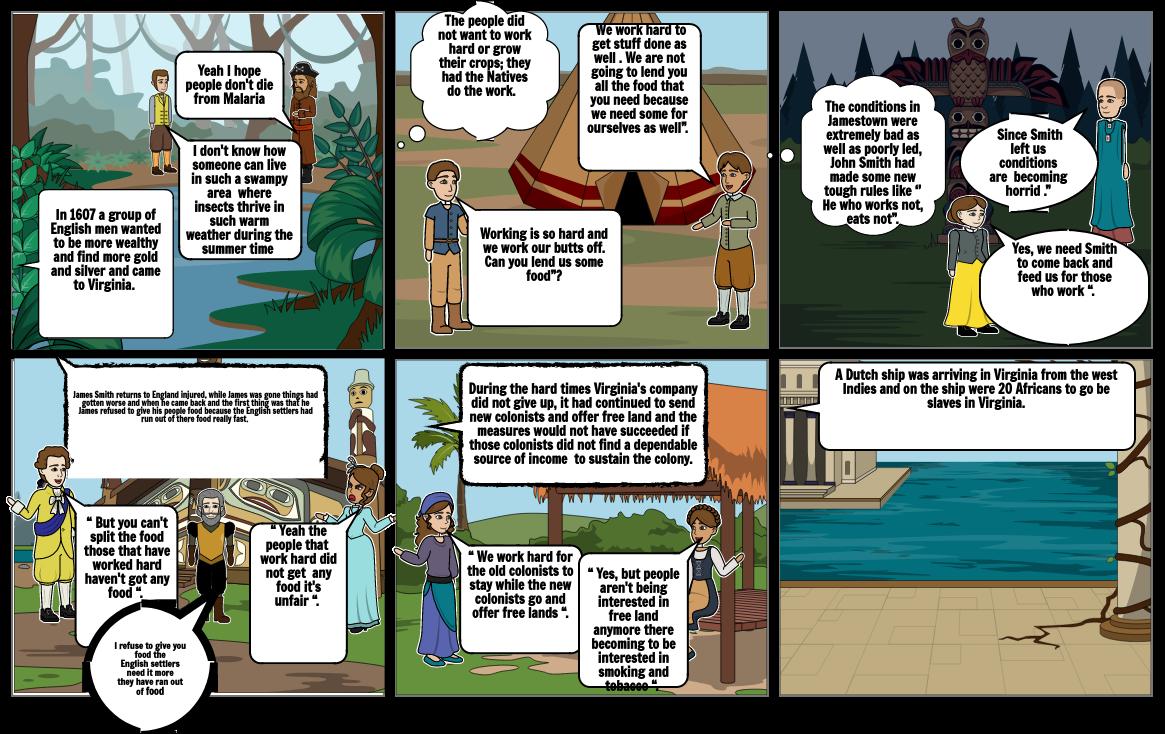 Jamestown storyboard