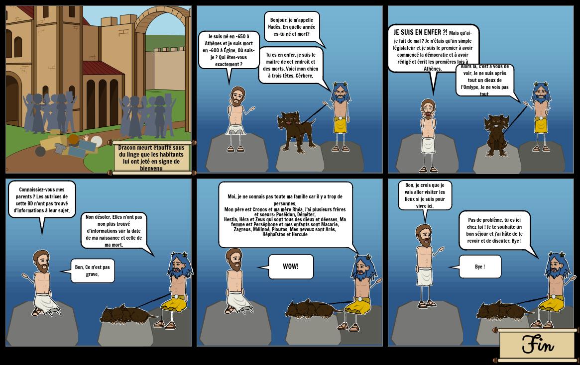 La rencontre de Dracon et Hadès