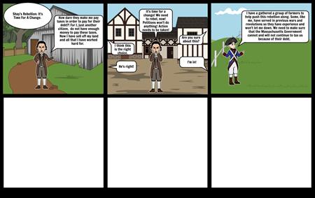 Shay's Rebellion Storyboard Maya Eugenio Period 6