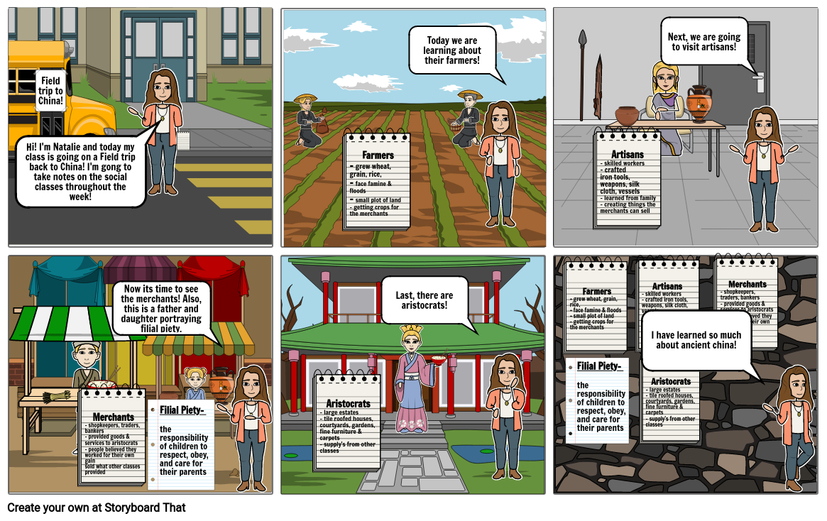 Chinese Social Classes & Family comic strip