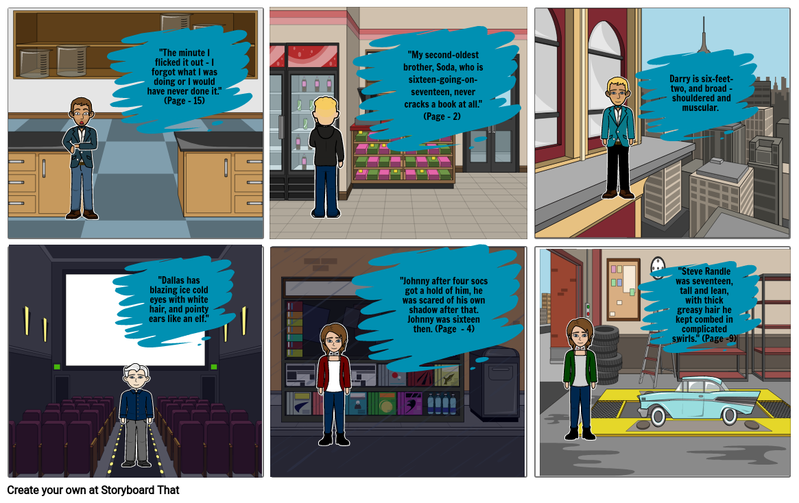 The Outsiders Character Comic