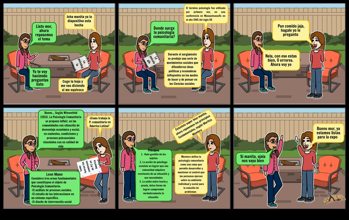 Historieta de psicologia comunitaria