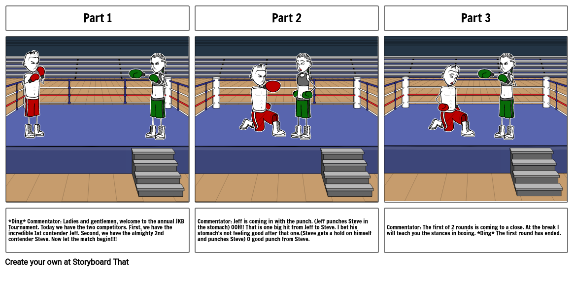 Boxing Storyboard