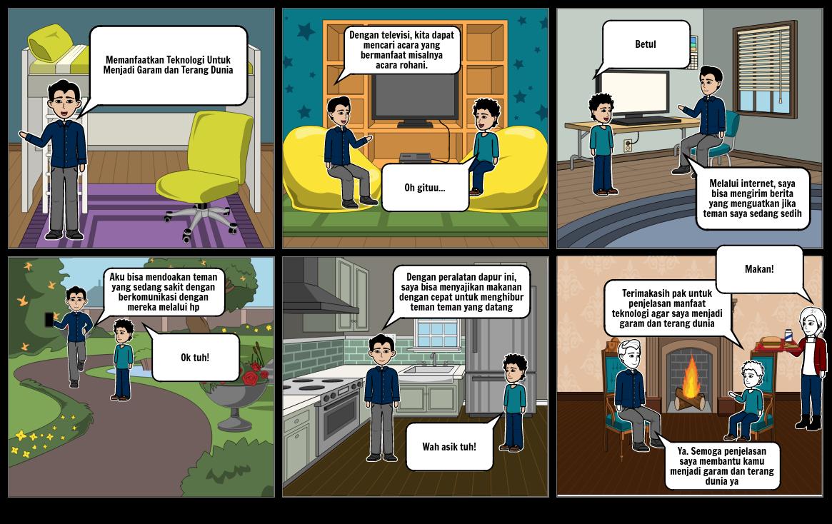 Tugas StoryBoard TIK dan Agama Timothy Alexander Sandijanto 6B 28