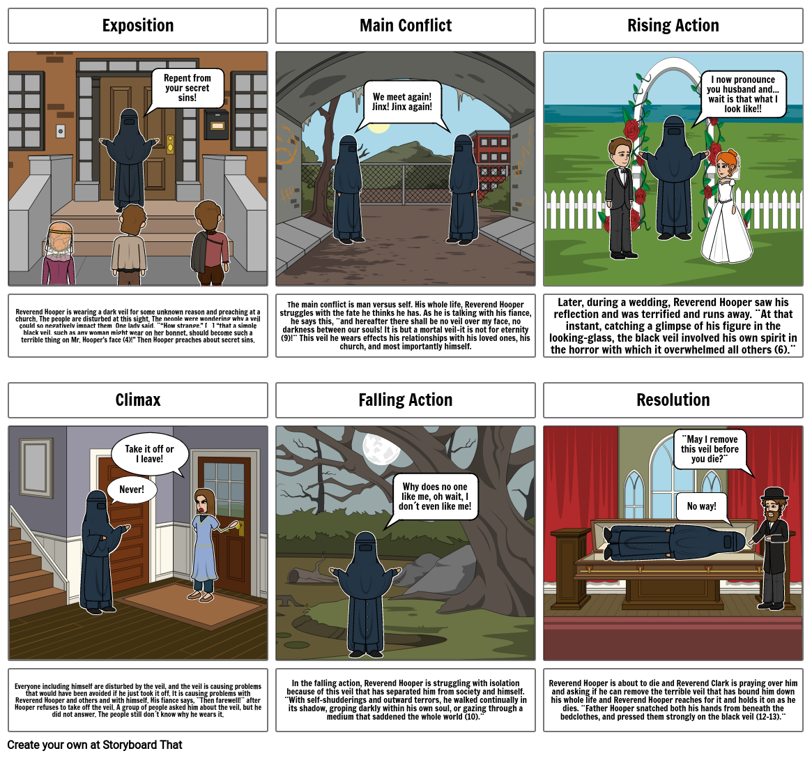 The Minister´s Black Veil Storyboard