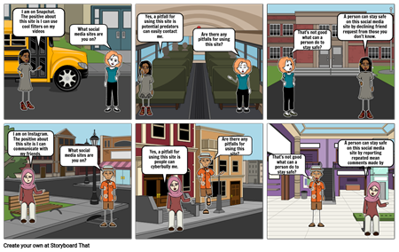 Mary's Cyber Safe Storyboard