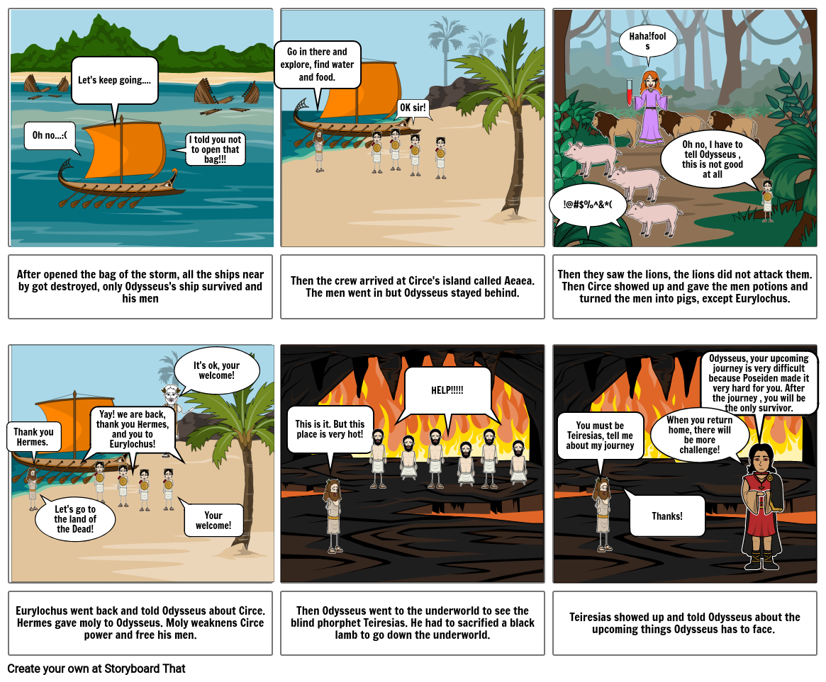 StoryBoard #3: Circe and the land of Dead.