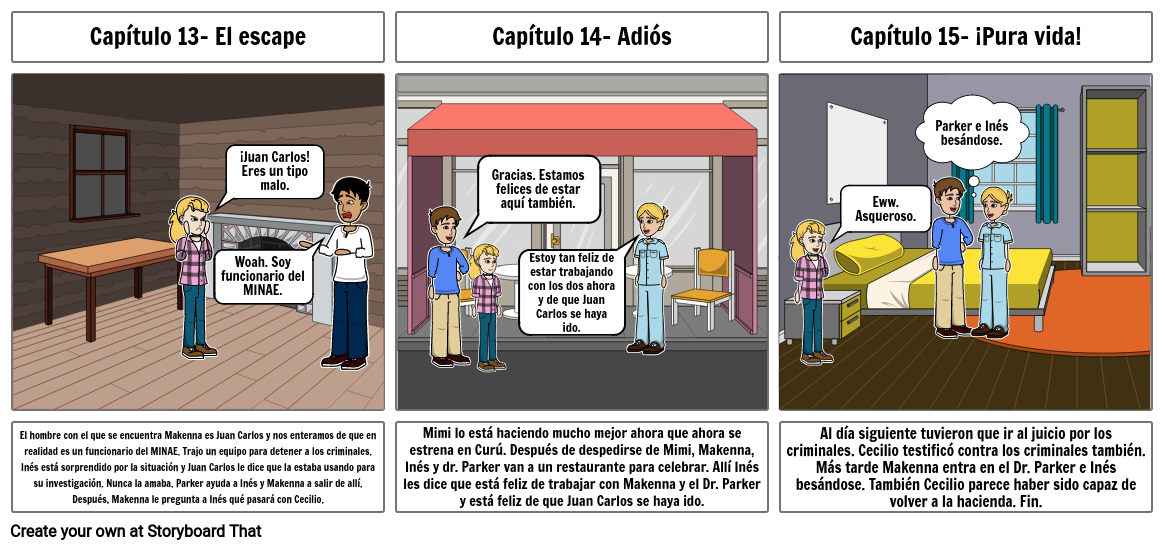 Spanish Storyboard book project (Part 3)