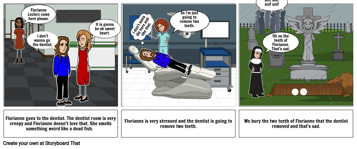 Florianne and the dentist