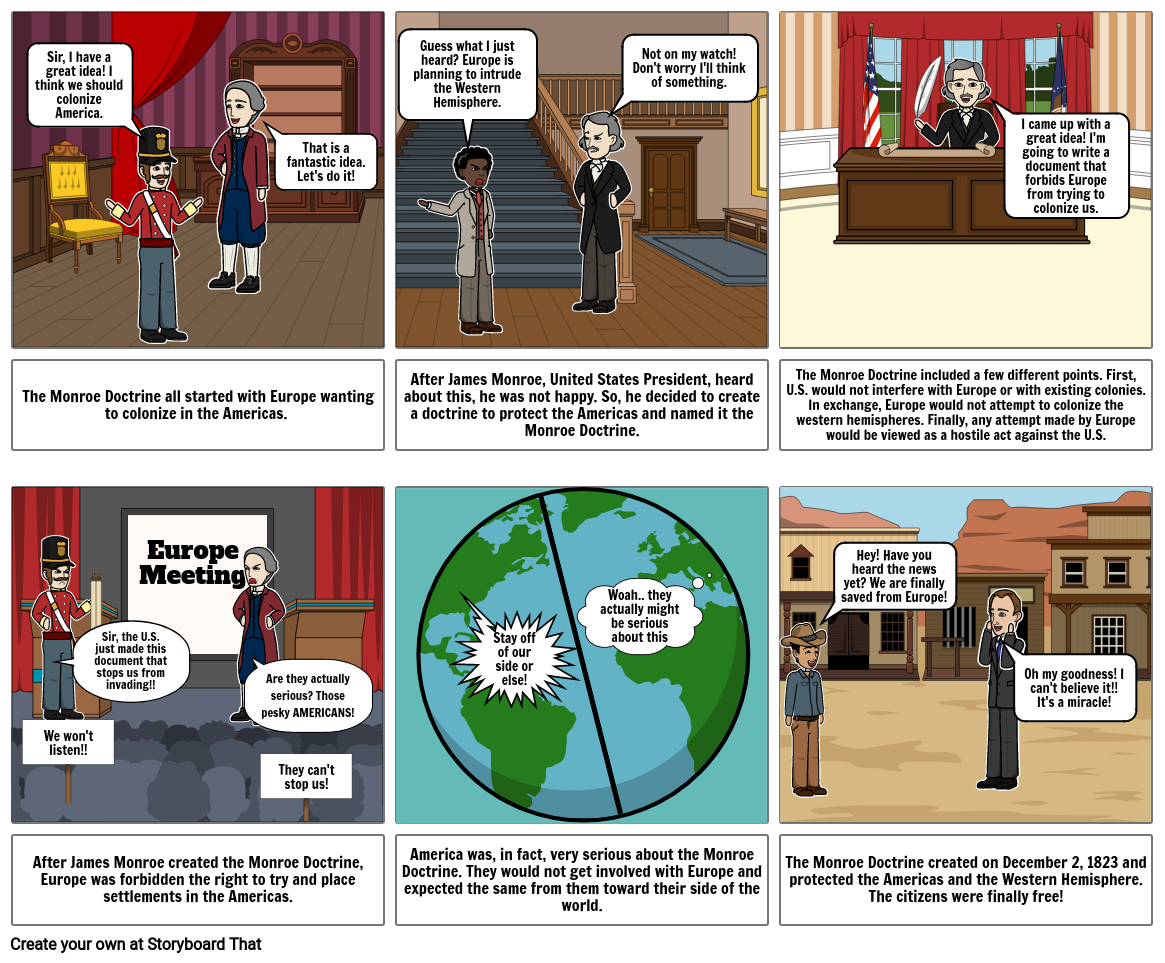 Monroe Doctrine Storyboard