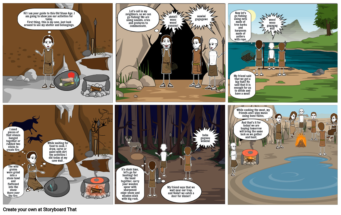 A Day in the LIfe of a man from Old Stone Age