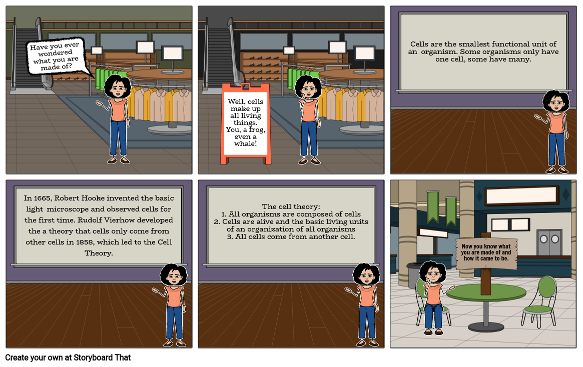 Cell Theory Understanding Storyboard