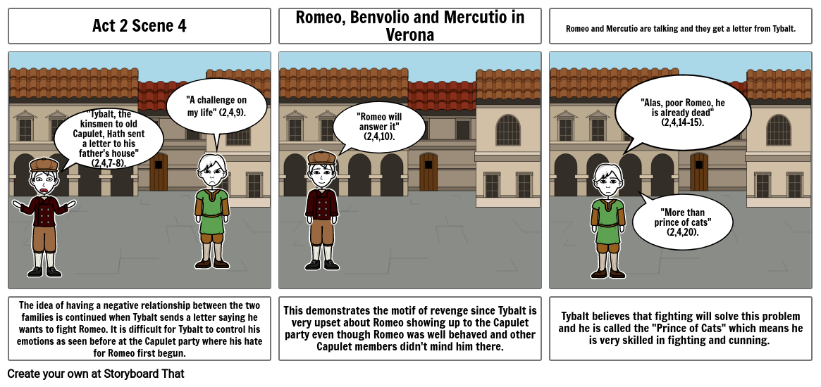 Romeo and Juliet story board 1