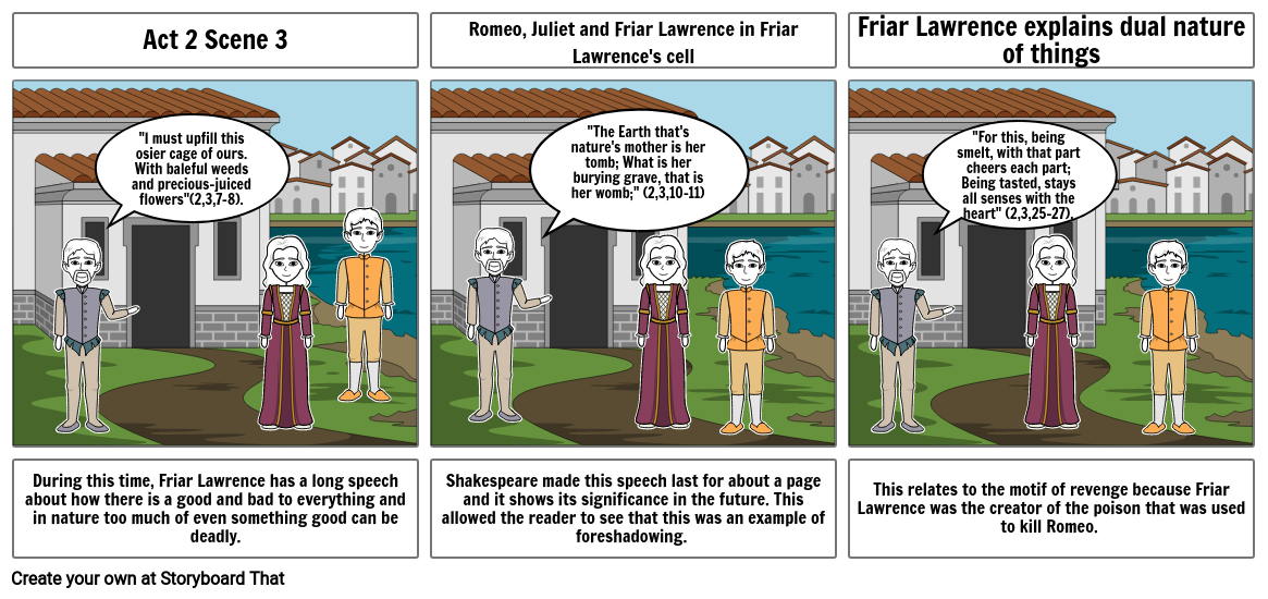 Romeo and Juliet story board 2