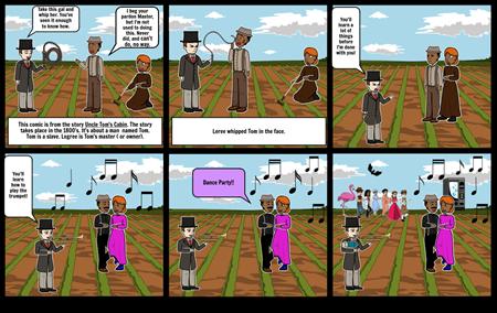 Uncle Tom's Cabin Comic (Social Studies Project)