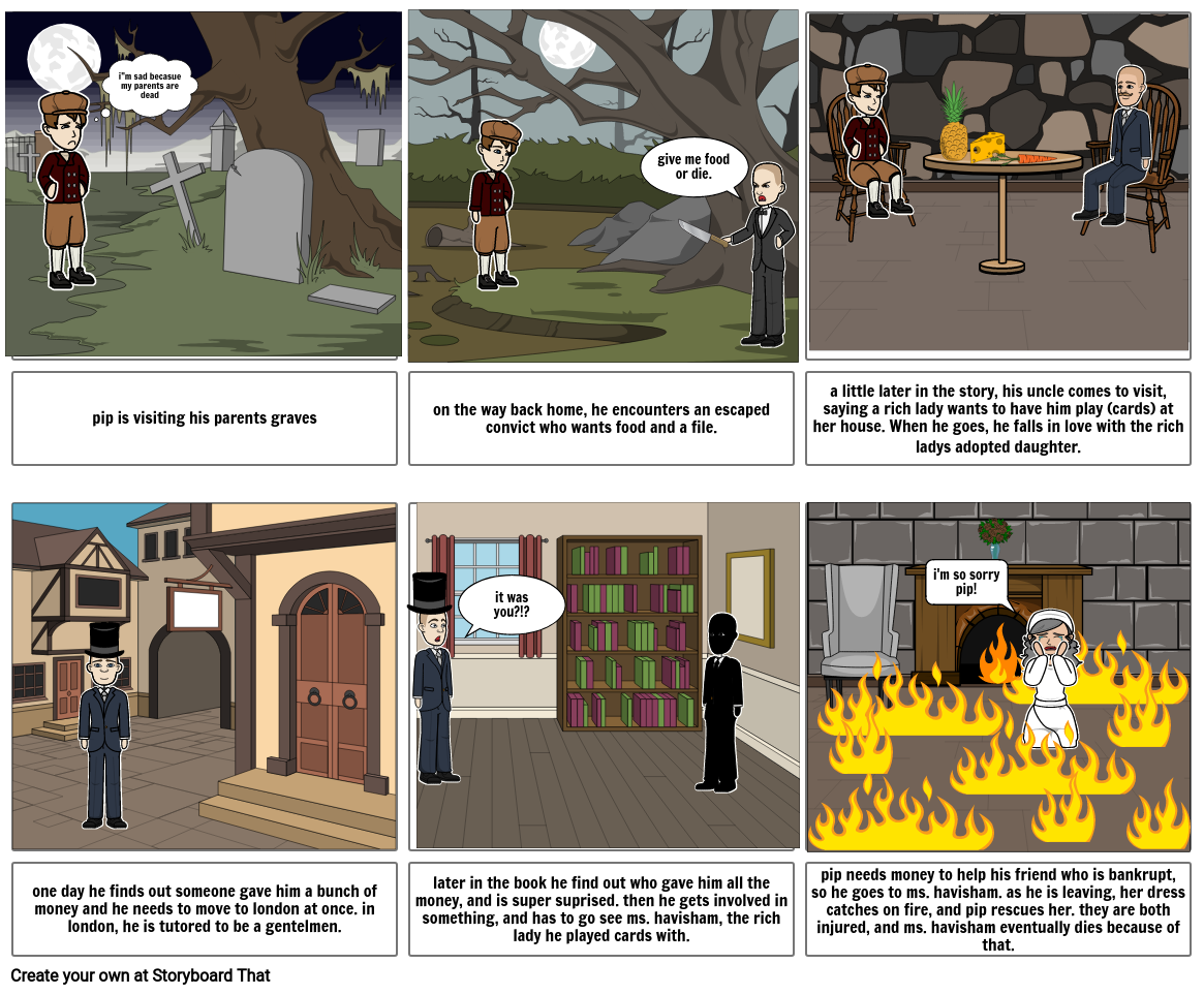 great expectations story board