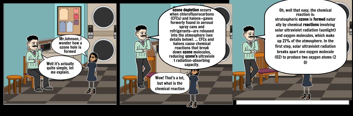 Stratospheric Ozone Depletion Comic