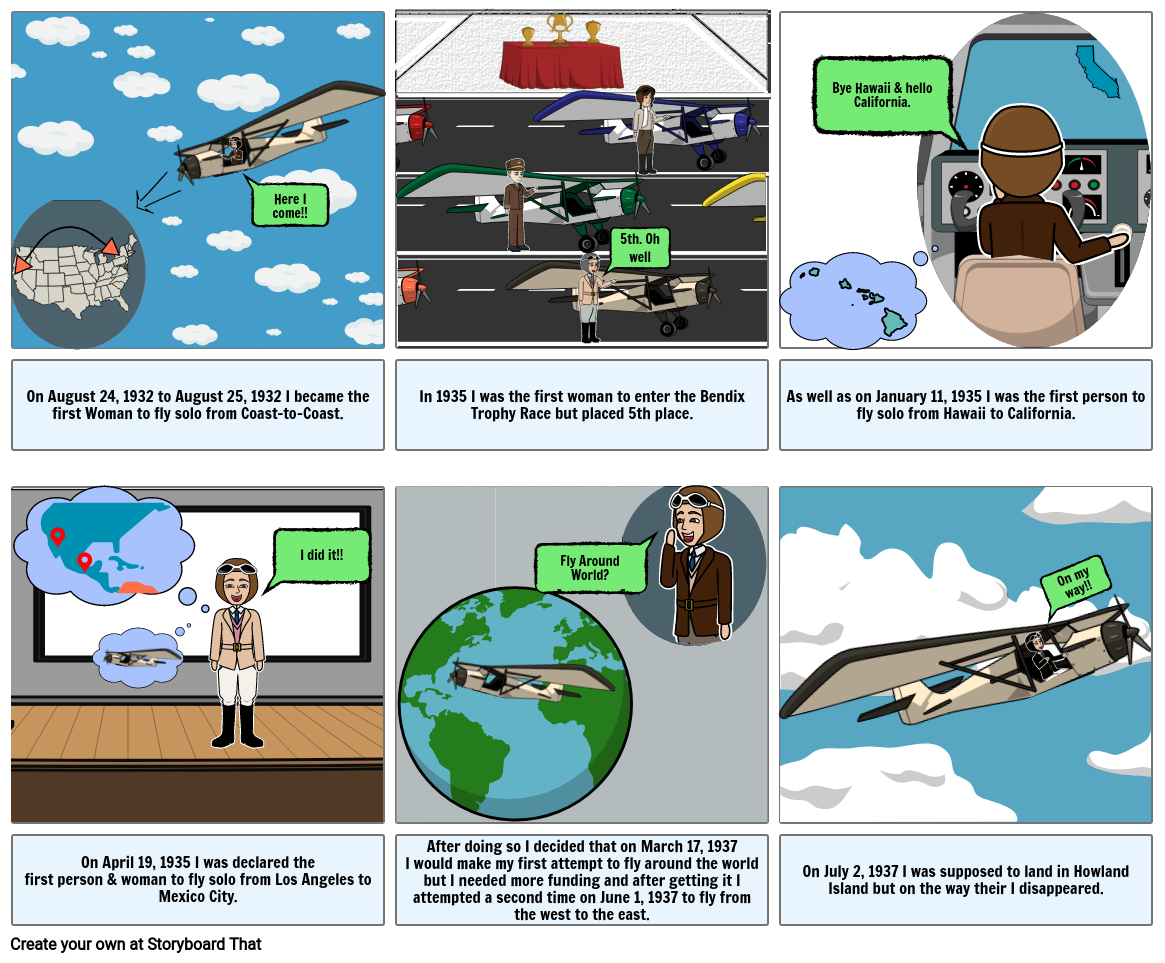 The story of Amelia Earhart by Ingrid Arenal Chiguil