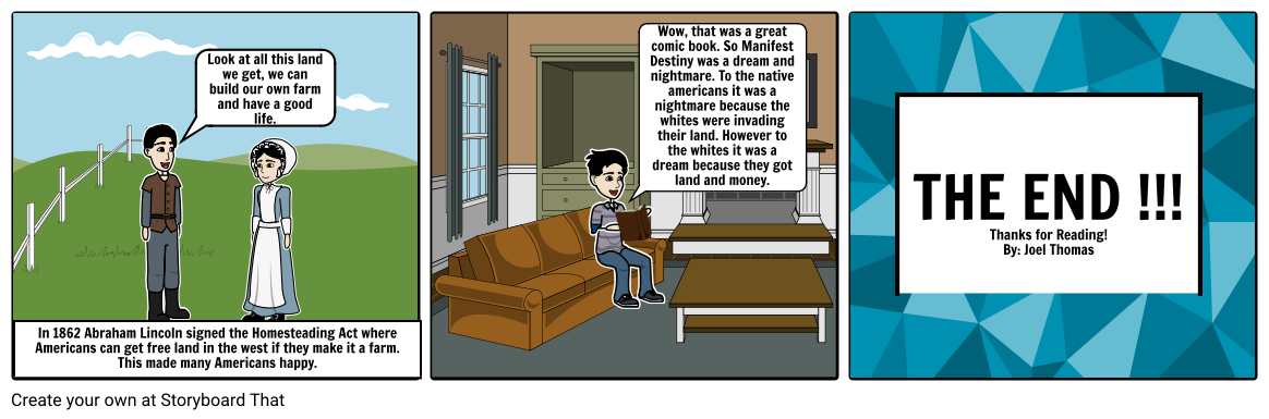 Manifest Destiny Comic Strip Part 2