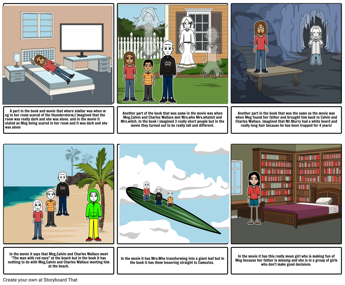 Wrinkle and time story board