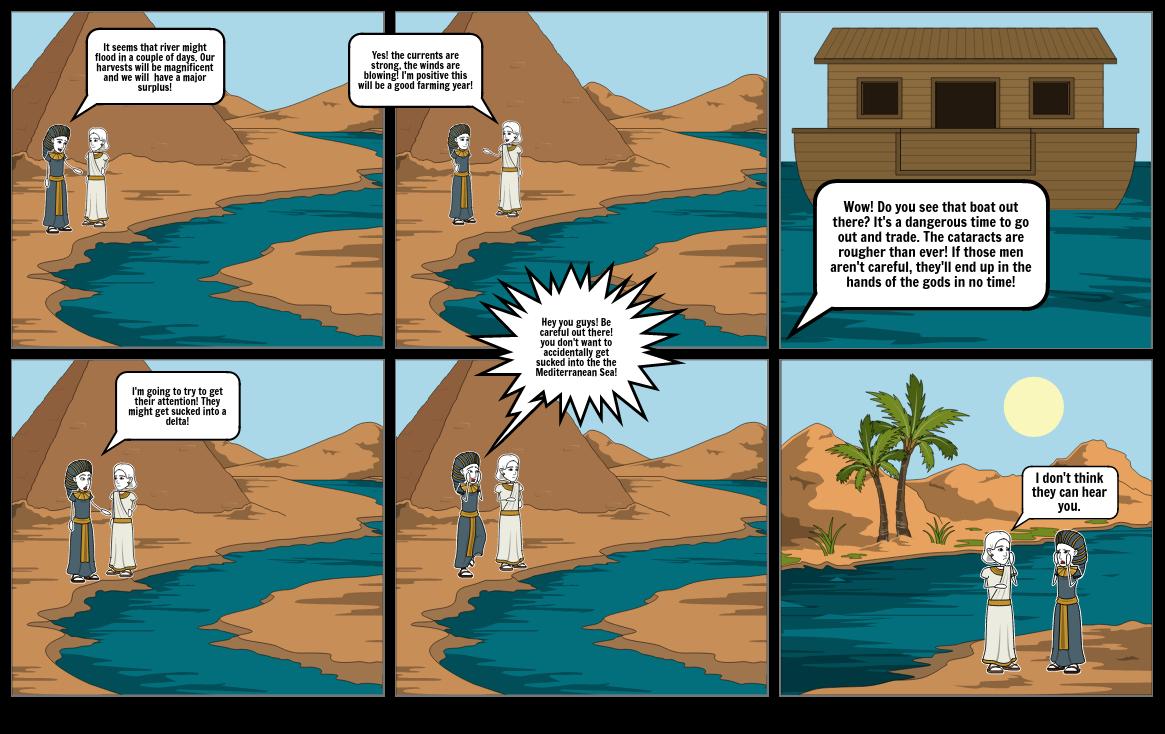 Nile River Comic Strip