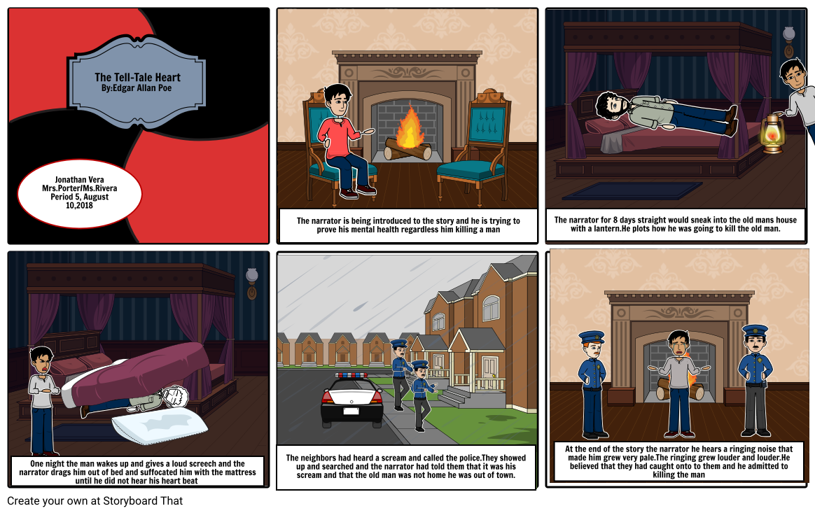 The Tell-Tale Heart storyboard