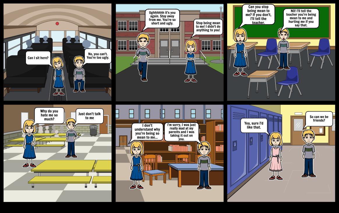 Bullying Comic Strip