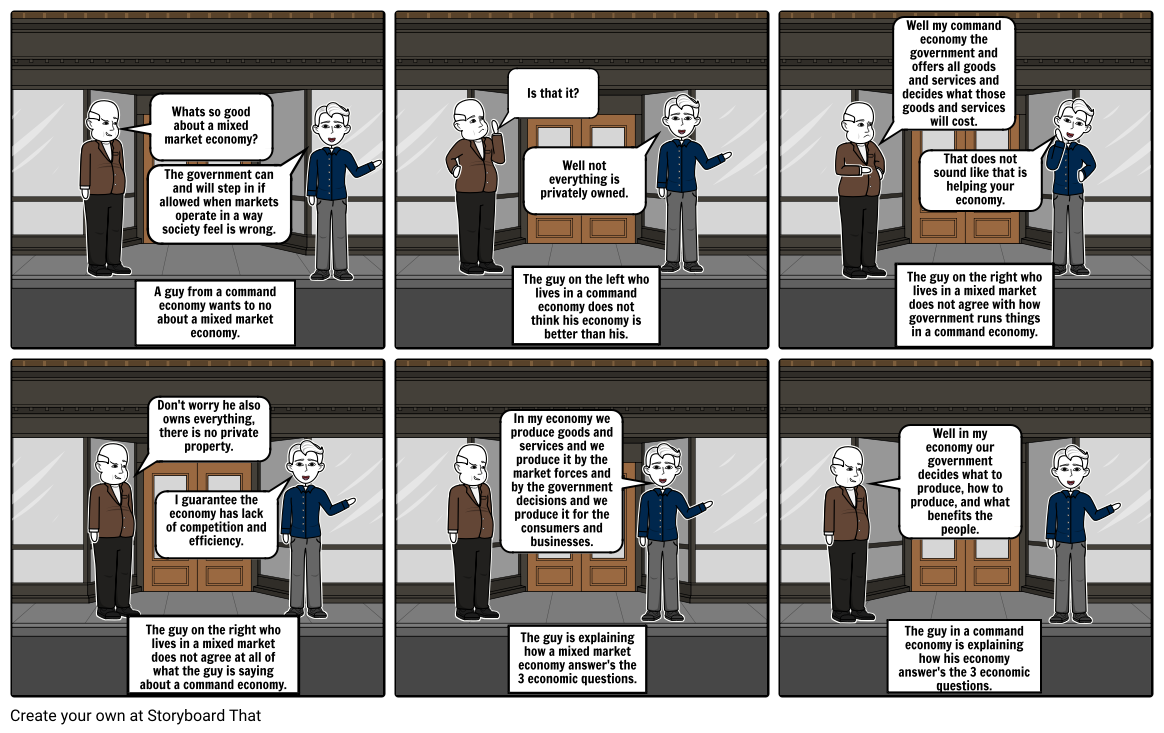 Economic Systems Project: Storyboard