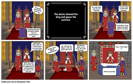 King John and the meeting of the barons