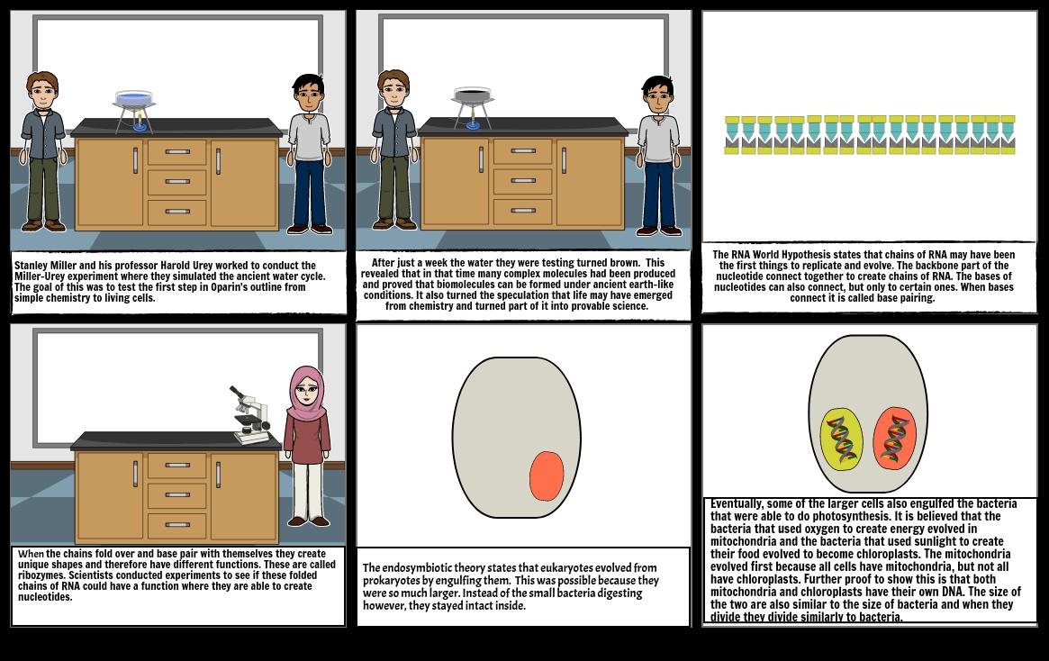 Origins of Cells Storyboard