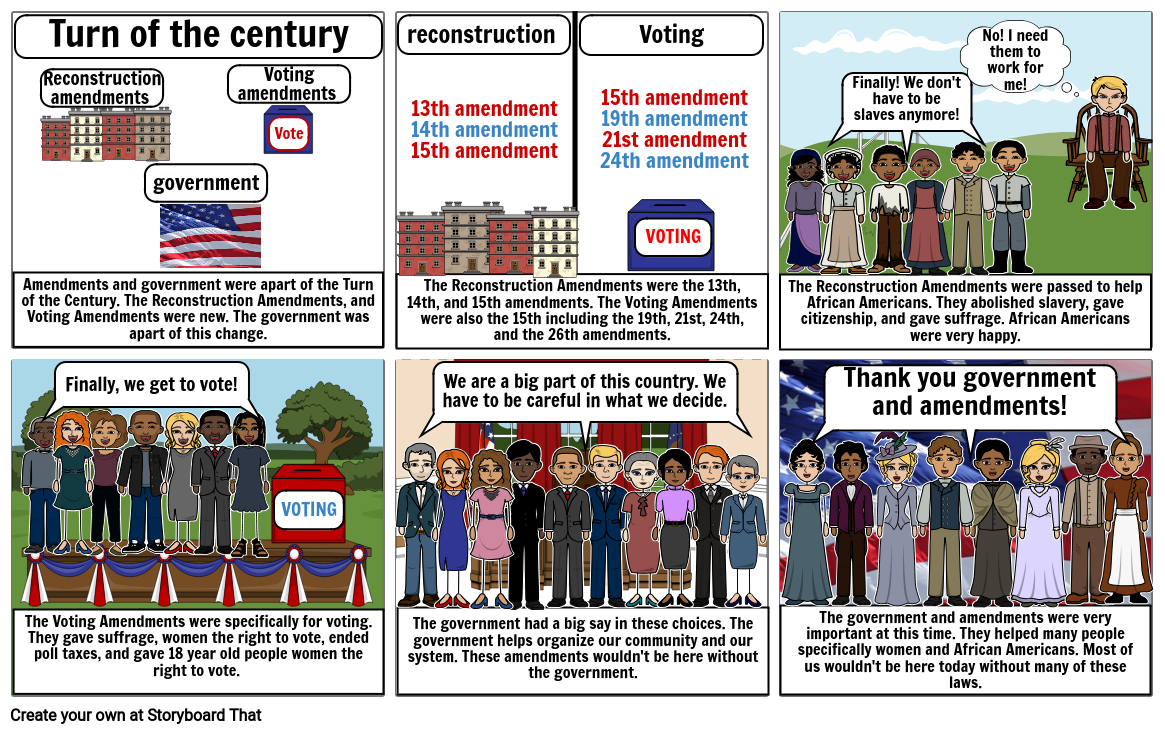 Government and Amendments in Turn of the  Century By: Jaelyn, Andy, and Keziah