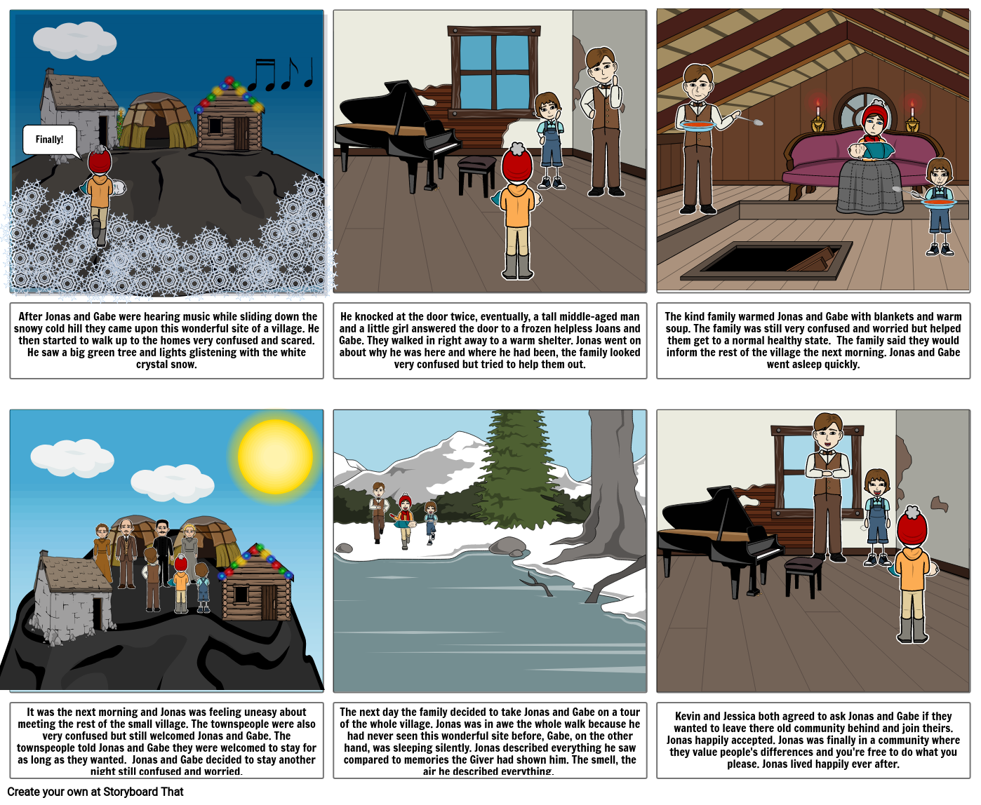 The giver comic strip