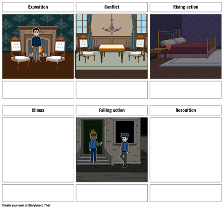 The tale tell heart storyboard