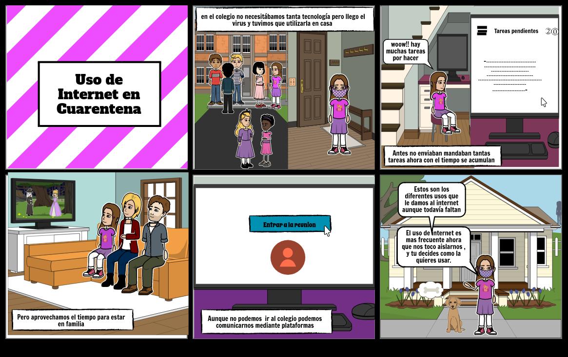 Uso de internet en Cuarentena