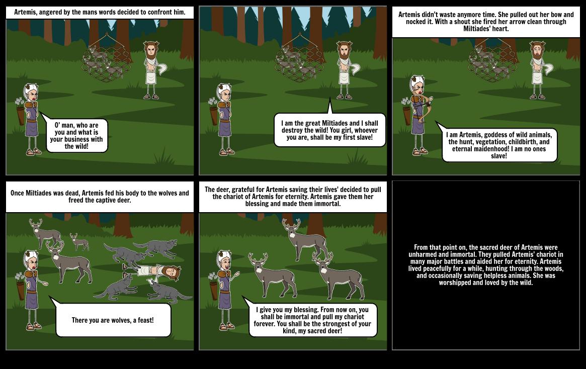 Artemis and Her Deer