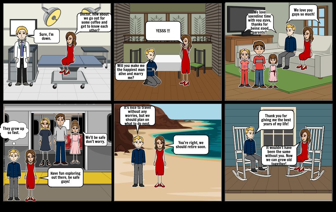 Family Life Cycles Cartoon