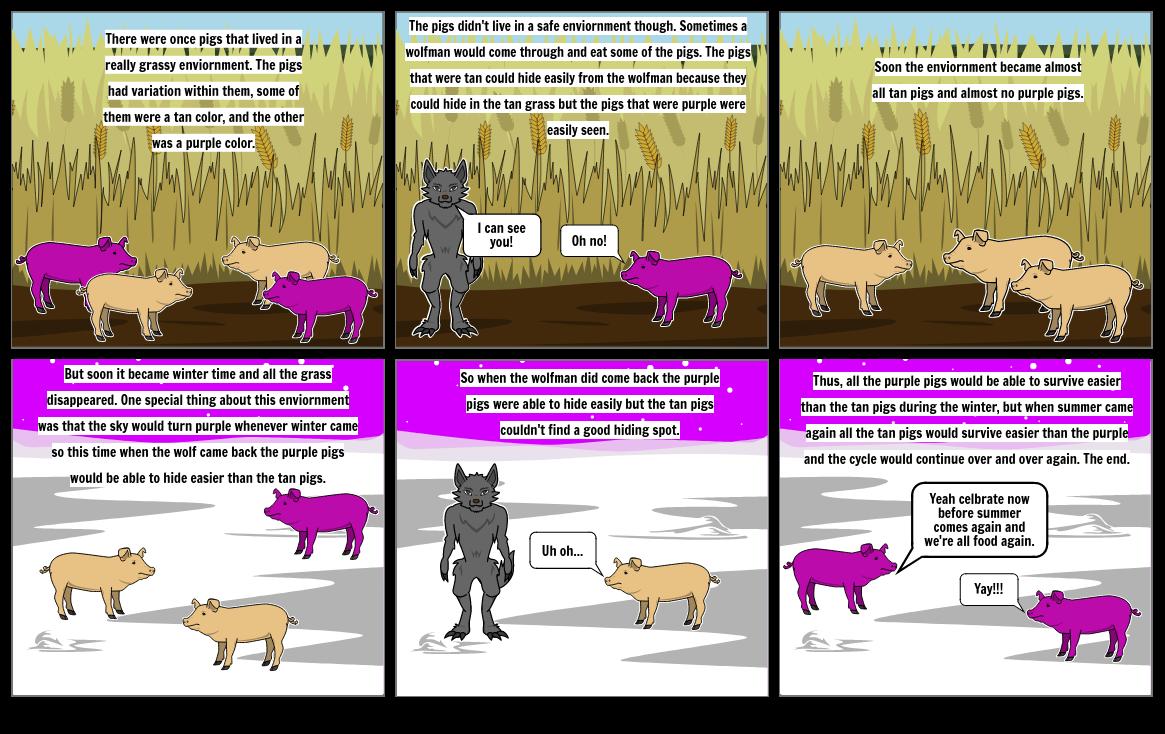 Natural Selection and Adaptation Comic Strip