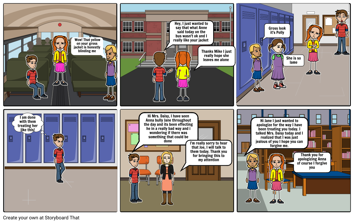 Bullying comic strip