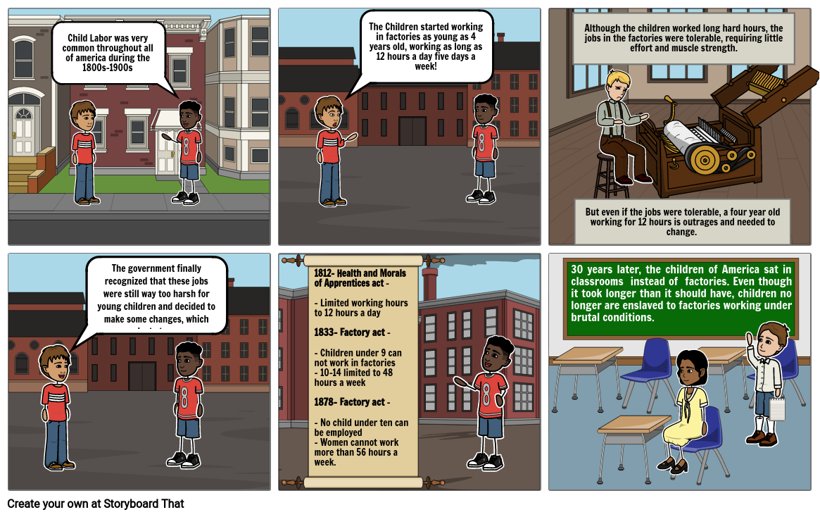 US History- Child Labor During the Industrial Revolution