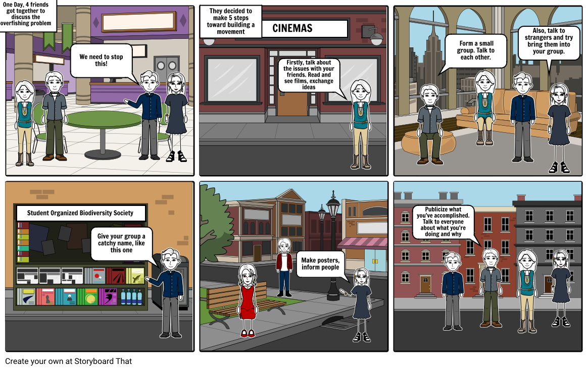 Comic Strip - 5 steps toward building a movement