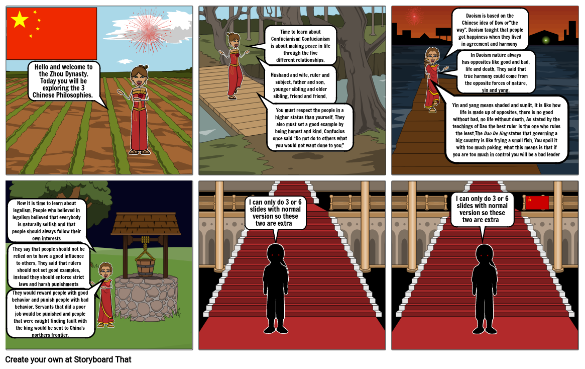 Humanities story board