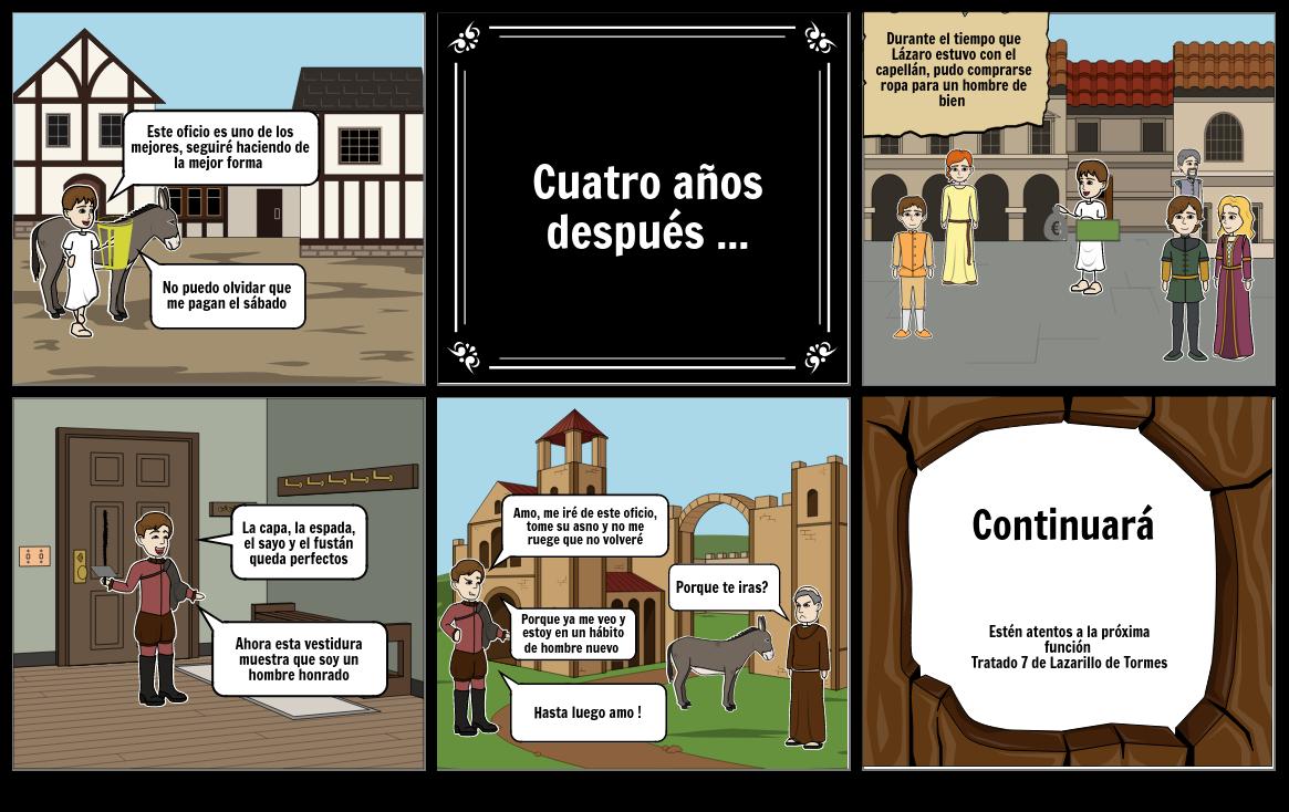Lazarillo de Tormes tratado 6 ( parte 2)