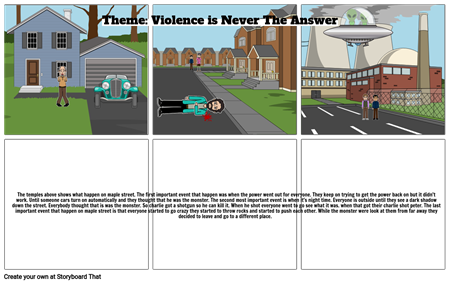Monster  Theme  story board