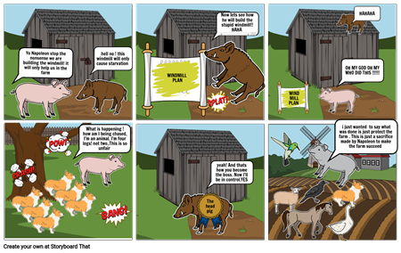 comic strip - animal farm