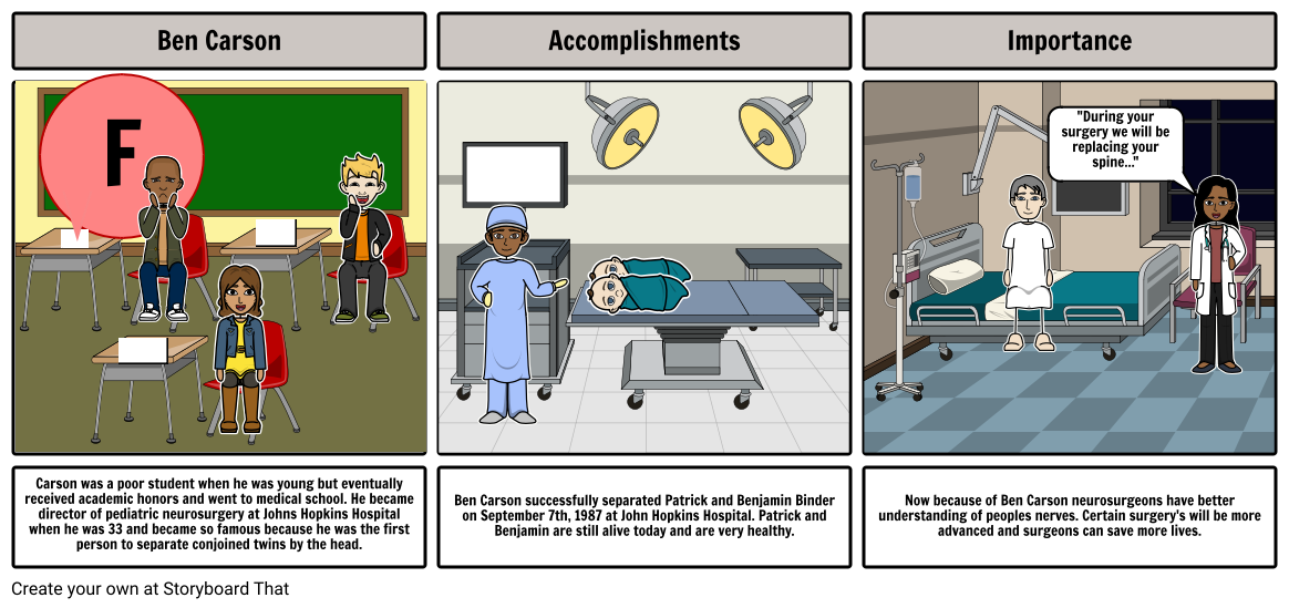 Ben Carson Storyboard by 55969d10