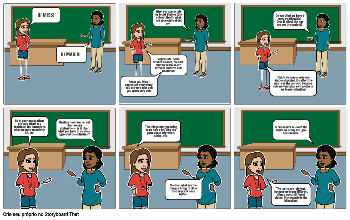 Maria Alice Totó Mainente - Social Studies Storyboard (1st term)