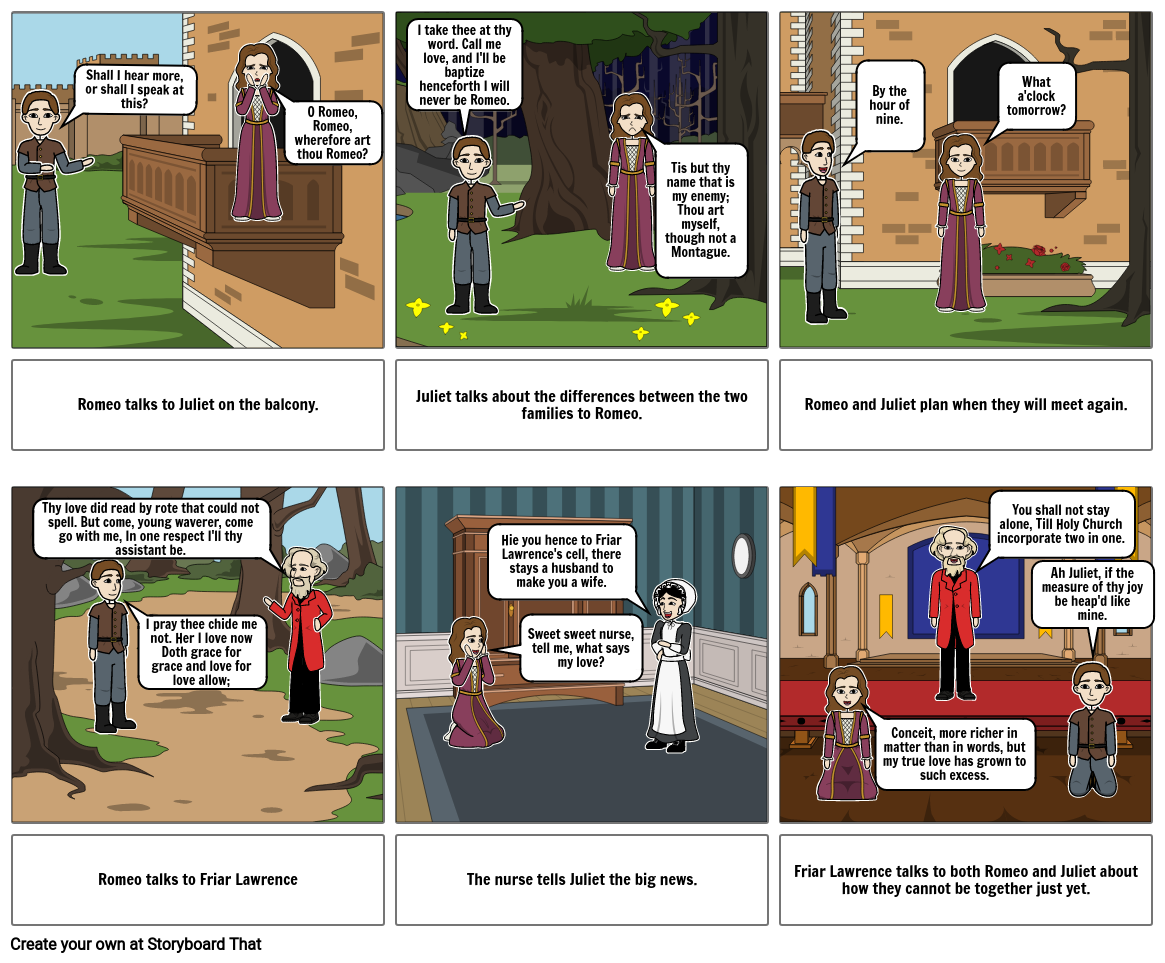Romeo and Juliet Storyboard Act 2