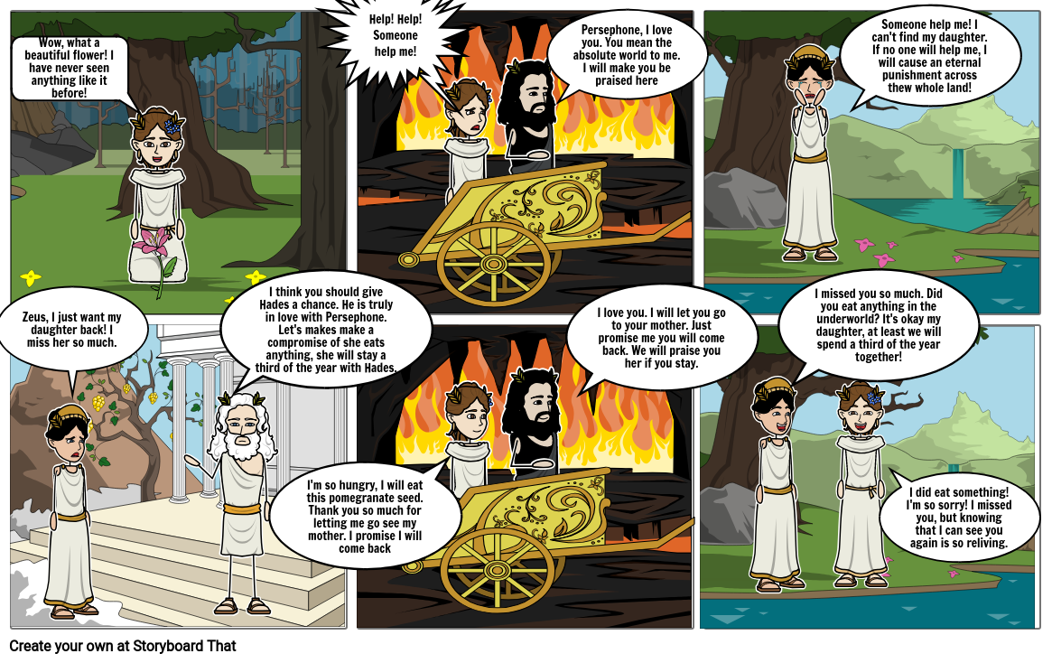 Demeter and Persephone Storyboard by 57dca120